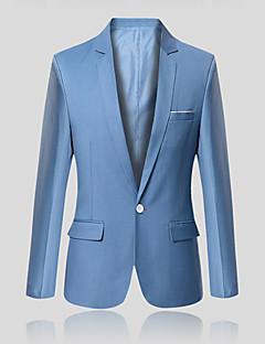 billige Herremote og klær-Bomull Tynn Blazer - Ensfarget Forretning Enkel Herre