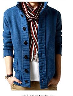baratos Suéteres & Cardigans Masculinos-Homens Simples Carregam - Sólido