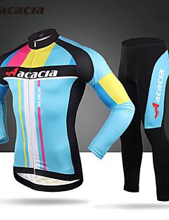 Calça com Camisa para Ciclismo Homens Unisexo Manga Longa Moto Meia-calça Blusas Calças Secagem Rápida Permeável á Humidade Vestível Alta