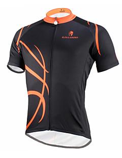 ILPALADINO Pyöräily jersey Miesten Lyhythihainen Pyörä Jersey Topit Nopea kuivuminen Ultraviolettisäteilyn kestävä Hengittävä Puristus