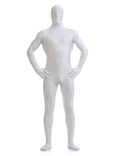 Zentai Suits Ninja Zentai Cosplay Costumes White Solid Leotard/Onesie Zentai Spandex Lycra Unisex Halloween