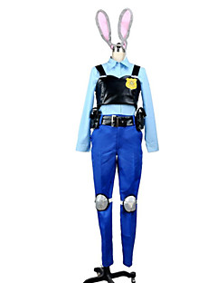 """Inspirert av Cosplay Judy Anime  """"Cosplay-kostymer"""" Cosplay Klær LapperGenser Topp Hodeplagg Belte Spissrøtter Knepute Hale Emblem Hakama"""