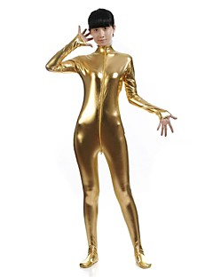 Zentai Suits Morphsuit Ninja Zentai Cosplay Costumes Golden Solid Leotard/Onesie Zentai Catsuit Spandex Shiny Metallic UnisexHalloween