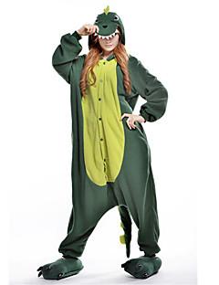 billige Kigurumi-Kigurumi-pysjamas Dinosaur Onesie-pysjamas Kostume Polar Fleece Grønn Cosplay Til Pysjamas med dyremotiv Tegnefilm Halloween Festival /