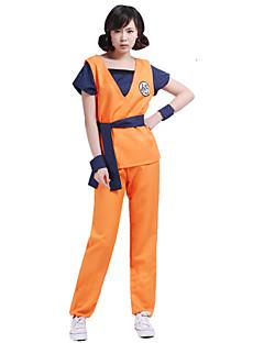 baratos Fantasias Anime-Inspirado por Dragon ball Son Goku Anime Fantasias de Cosplay Ternos de Cosplay Estampado Blusa Calças Cinto Para Homens