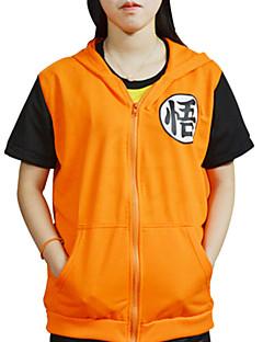 Inspirado por Dragon ball Son Goku Anime Fantasias de Cosplay Cosplay T-shirt Estampado Manga Curta Casaco Para Masculino Feminino