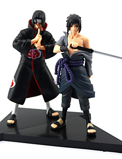 Naruto Sasuke Uchiha PVC Anime Action Figurer Modell Leker Doll Toy