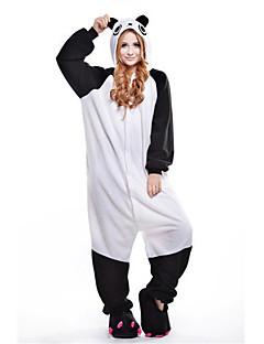 billige Kigurumi-Kigurumi-pysjamas Panda Onesie-pysjamas Kostume Polar Fleece Hvit Cosplay Til Voksne Pysjamas med dyremotiv Tegnefilm Halloween Festival