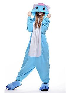 billige Kigurumi-Voksne Elefant Onesie-pysjamas Kostume Polar Fleece Blå Cosplay Til Pysjamas med dyremotiv Tegnefilm Halloween Festival / høytid / Jul