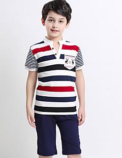 ボーイの コットン Tシャツ / パンツ,ストライプ 夏