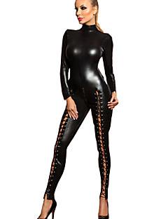 billige Sexy kostymer-Flere Kostymer Cosplay Kostumer Dame Karneval Nytt År Festival / høytid Halloween-kostymer Svart Ensfarget Sexy Uniformer Flere Uniformer
