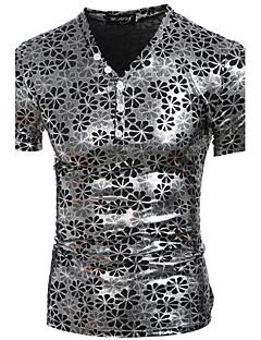 お買い得  メンズTシャツ&タンクトップ-男性用 日常 / スポーツ Tシャツ ソリッド / 半袖