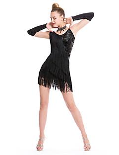 Latin dans elbiseleri kadın performansı kıyafetli elbise
