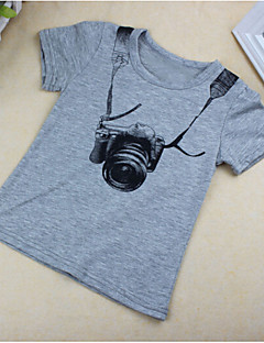 billige Overdele til drenge-Drenge T-shirt Bomuld Sommer Kortærmet Grå