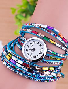 ieftine Ceas Brățară-Pentru femei Quartz Ceas Brățară imitație de diamant Piele Bandă Charm Modă Multicolor
