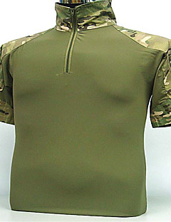 Herrn Kurzarm Jagd-T-Shirt Schweißtransportierend Hemd Oberteile für Camping & Wandern Jagd Angeln Freizeit Sport Radsport/Fahhrad