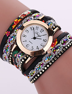 Women's Quartz Analog White Case Multilayer Leather Band Bracelet Wrist Fashion Watch Jewelry Cool Watches Unique Watches Strap Watch