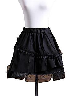 billiga Lolitaklänningar-Gotisk Lolita Prinsessa Spets Dam Kjolar Underkjol Cosplay Kort längd