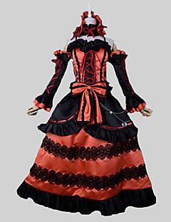 """billige Anime Kostymer-Inspirert av Date A Live Kurumi Tokisaki Anime  """"Cosplay-kostymer"""" Cosplay Klær Vintage Ermeløs Topp / Skjørte / Ermer Til Dame Halloween-kostymer / Satin"""