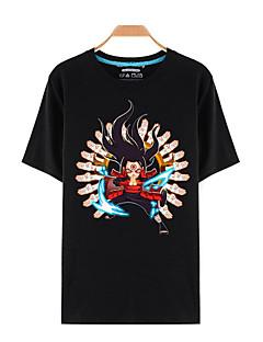 """billige Anime Kostymer-Inspirert av Naruto Sasuke Uchiha Anime  """"Cosplay-kostymer"""" Cosplay T-skjorte Trykt mønster Kortermet Topp Til Mann"""
