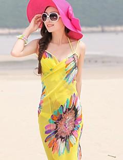 Art und Weise der Sommerdamen Chiffon Stil Tücher Schal Strand Chiffon Schals Schals zufällige Farbe