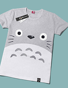 Inspired by My Neighbor Totoro Cat Anime Cosplay Costumes Cosplay T-shirt Print Short Sleeves T-shirt For Unisex