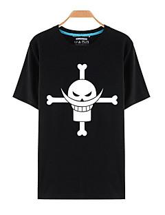 """billige Anime Kostymer-Inspirert av One Piece Monkey D. Luffy Anime  """"Cosplay-kostymer"""" Cosplay T-skjorte Trykt mønster Kortermet Topp T-Trøye Til Unisex"""