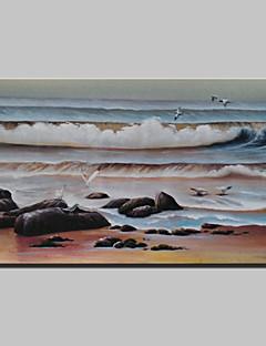 tanie Pejzaże abstrakcyjne-Ręcznie malowane Krajobraz Poziomy, Klasyczny Brezentowy Hang-Malowane obraz olejny Dekoracja domowa Jeden panel