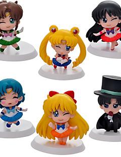 billige Anime cosplay-Anime Action Figurer Inspirert av Sailor Moon Sailor Moon PVC 5 CM Modell Leker Dukke
