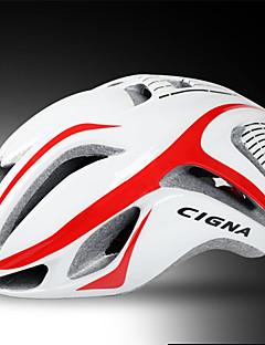 billiga Cykling-CIGNA Vuxen cykelhjälm 17 Ventiler Stöttålig, Justerbar passform EPS, PC sporter Vägcykling - Svart / Blå / Vit+Röd / Vit+Grå Herr / Dam