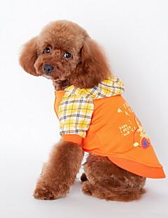 billiga Hundkläder-Hund Huvtröjor Hundkläder Tecknat Orange Blå Cotton Terylen Kostym För husdjur Herr Mode