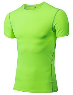 Heren Hardloopshirt Korte mouw Sneldrogend Zweetafvoerend T-shirt Kleding Bovenlichaam voor Training&Fitness Racen Hardlopen Polyester