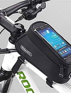 cheap Bike Bags-ROSWHEEL Bike Frame Bag Cell Phone Bag 5.5 inch Moistureproof/Moisture Permeability Waterproof Zipper Wearable Touch Screen Shockproof