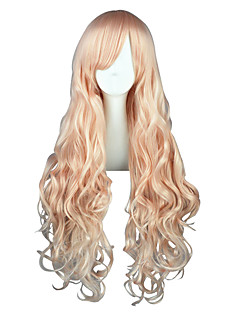Cosplay Wigs Macross Frontier Sheryl Nome Pink Long Anime Cosplay Wigs 80 CM Heat Resistant Fiber Male / Female