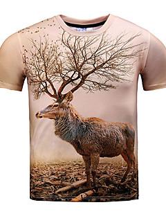 お買い得  メンズTシャツ&タンクトップ-男性用 スポーツ - プリント プラスサイズ Tシャツ