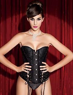 YUIYE® Women Sexy Lingerie Waist Training Corset Set Bustier Shapewear Plus Size Black Lace Up Overbust Corset