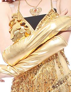 ダンスアクセサリー ダンスグローブ 女性用 演出 スパンデックス ドレープ 2個 五分袖 グローブ