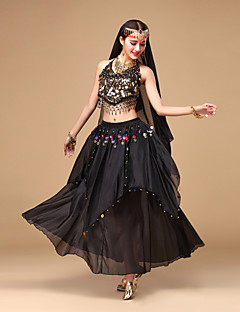 cheap Belly Dance Wear-Shall We Belly Dance Outfits Women Performance Chiffon Sequins Dance Costumes