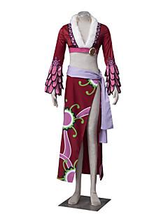 """billige Anime cosplay-Inspirert av One Piece Boa Hancock Anime  """"Cosplay-kostymer"""" Cosplay Klær Blomstret Langermet Frakk Skjørte Belte Midje Tilbehør Til Dame"""