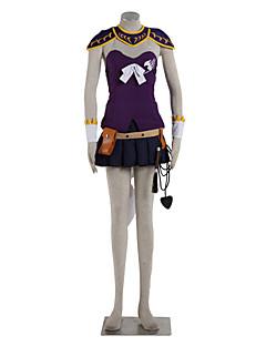 """Inspirert av Eventyr Lucy Heartfilia Anime  """"Cosplay-kostymer"""" Cosplay Klær Fargeblokk Topp Skjørte Spissrøtter Til Kvinnelig"""
