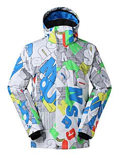 billiga Skid- och snowboardkläder-GSOU SNOW Herr Skidjacka Vattentät, Håller värmen, Vindtät Skidåkning / Vintersport Polyester Vinterjacka Skidkläder