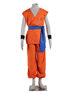 Inspired by Dragon Ball Goku Anime Cosplay Costumes Cosplay Suits Solid Sleeveless Top Pants Belt For Male