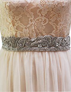 ビーズの模造真珠のエレガントなスタイルと弾性サテンの結婚式のサッシ