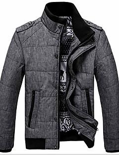 コート レギュラー パッド入り メンズ,カジュアル/普段着 ワーク ソリッド コットン コットン-シンプル 長袖