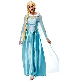 billige -Prinsesse Eventyr Elsa Cosplay Kostumer Film-Cosplay Blå Trikot / Heldraktskostymer Kappe Halloween Nytt År Terylene