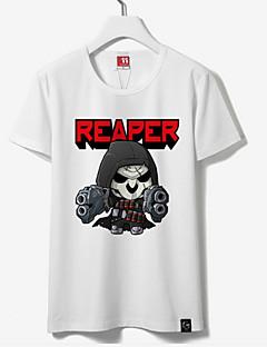 """Inspirert av Watch Reaper Anime  """"Cosplay-kostymer"""" Cosplay Topper / Underdele Trykt mønster Kortermet T-Trøye Til Unisex"""
