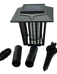 billige Lampestolper-LED-lyskastere Lett installasjon Vanntett Kjølig hvit Lilla Batteri