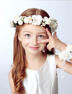 tanie Akcesoria dla dzieci-akcesoria do włosów dla dziewczynek chłopięcych, opaski akrylowe na wszystkie pory roku - khaki fioletowy beż