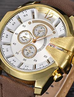 Pánské Sportovní hodinky Vojenské hodinky Hodinky k šatům Módní hodinky Náramkové hodinky Křemenný Kalendář Punk Kůže Kapela Retro Cool