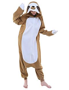 Kigurumi Pyžama Anime Komiks Leotard/Kostýmový overal Festival/Svátek Animal Sleepwear Halloween Hnědá Zvířecí Patchwork polar fleece